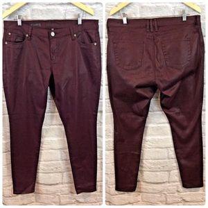 KFTK - VIV Toothpick Skinny Shimmer Waxed Jeans